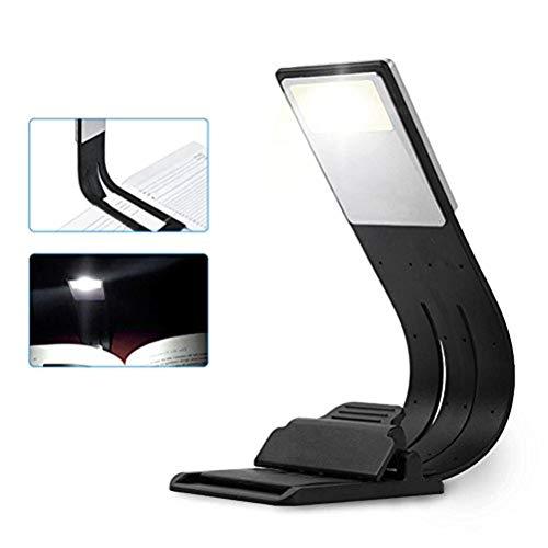 Clip Light USB-Aufladbare Lampe Augenpflege Doppelt als Lesezeichen Flexibel Leselampe mit 4 Stufen dimmbar für Buch ebook Lesen im Bett, Kindle, iPad, Wiederaufladbar über USB