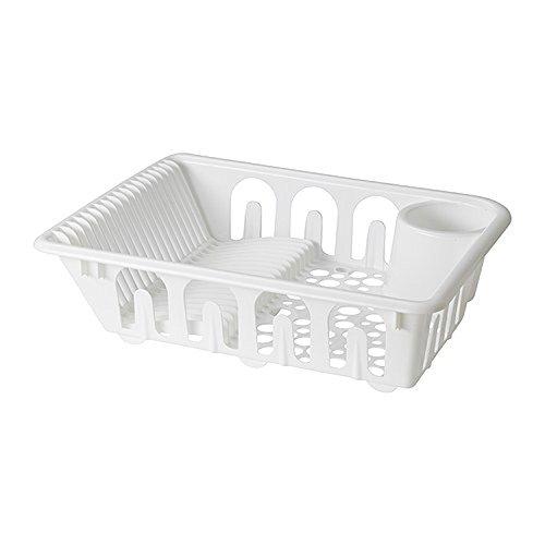 IKEA FLUNDRA - Escurreplatos de vajilla, color blanco