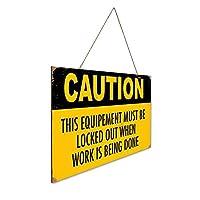 作業が完了すると、機器をロックアウトする必要があります 木製ポスターレトロなポスター安全標識壁パネル木材注意標識壁標識警告標識絵画標識ショップ興味標識警告装飾壁掛け部屋の装飾背景絵画壁画アートストア食料品ショッピングモール駐車場バークラブカフェレストラントイレ公共の場誕生日プレゼント