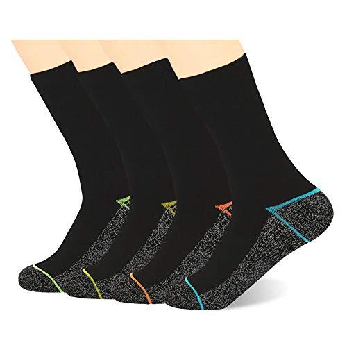 Kupfer Antibakterielle Athletische Socken für Männer & Frauen-Feuchtigkeits-Docht, rutschfeste Kissen Knöchelsocken, Mehrfarbig