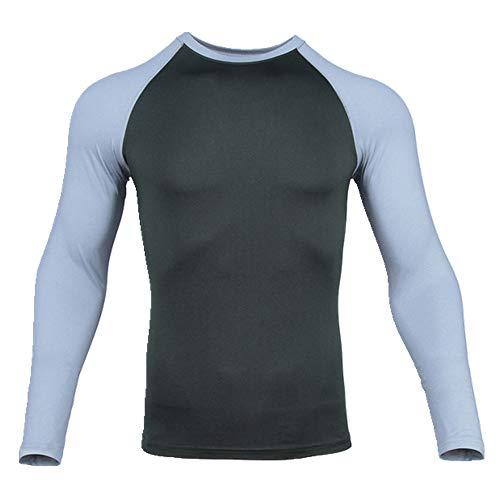 N\\P Kompressions-T-Shirt für Herren, für Fitness, Laufen, schnelltrocknend, Sporttrikot, langärmelig, für Fitnessstudio, Training, Workout-Shirt Gr. M, grün