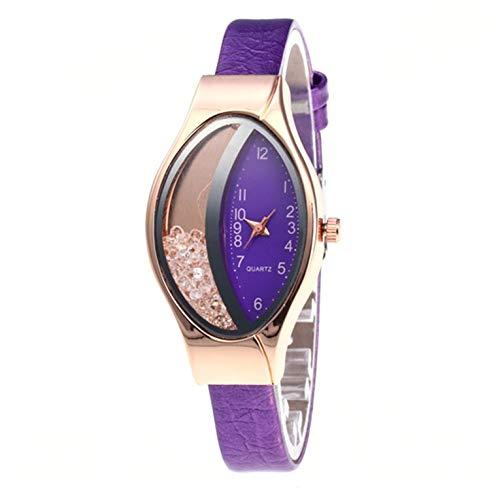 Media Luna Tipo Elíptica Arenas movedizas Señora Reloj Moda Mujer Reloj Relojes de Pulsera Señoras Mejor Regalo