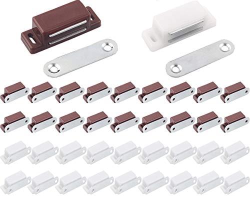 Cerradura de Taquilla,Liuer 40PCS Cerradura Magnética Armario Puerta Magnético para armario de cocina imán capturas Latch pequeño hogar...