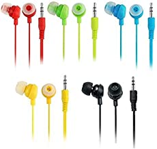 River Eletronic Pack of 5 Wholesale Bundle Wire Cord Color Simple 3.5mm Earphones Earbuds Headphones Headsets for Android Nexus Samsung Sony HTC Motorola iPhone 6/6s 5/5s 4/4s MP3