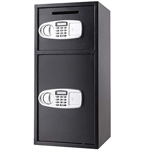 Seguro de Acero Depósito de caja de almacenamiento digital de doble puerta de caja fuerte Buzón Electrónico Con teclado for Ministerio del hotel joyería para Casa ( Color : Black , Size : Free size )
