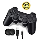 7. PS3 Controller, Wireless Bluetooth Gamepad Double Vibration Remote Joystick for Playstation 3 with Charging Cord (1-Pack)