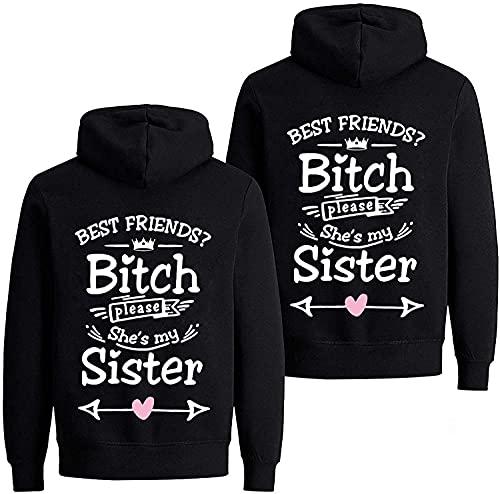 """Daisy for U Best Friends bluza z kapturem dla dwóch dziewcząt, z napisem """"Best Friends"""""""