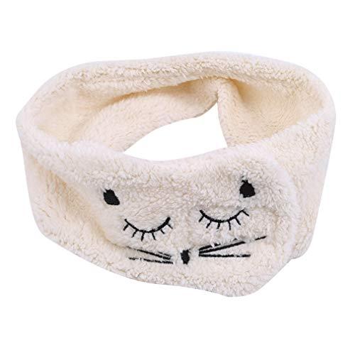 Pinhan Cat Make Up - Mascarilla para el Lavado de la Cara, para el SPA o la Ducha, para el Maquillaje, Diadema de Gato, Color Blanco