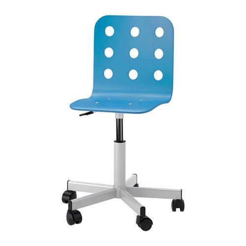 Ikea Jules Schreibtischstuhl für Kinder; in blau/silberfarben; höhenverstellbar