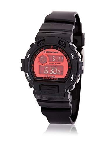 Dunlop Reloj Digital para Unisex Adultos de Cuarzo con Correa en Caucho DUN191G07