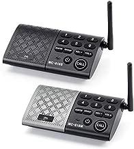 eMACROS Portable Wireless Intercom System 1000 feet Full Duplex Intercom System for Home and Office,Room to Room Intercom, Home Communication System