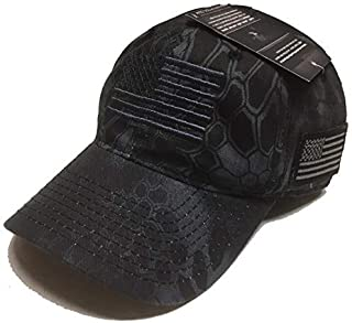 Tactical Operator Hat Ball Cap w/American Flag Outdoor Camo Hunting
