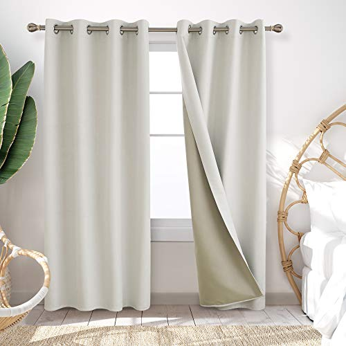 Deconovo Blackout Curtains Thick Noise Cancelling Grommet Room Darkening...