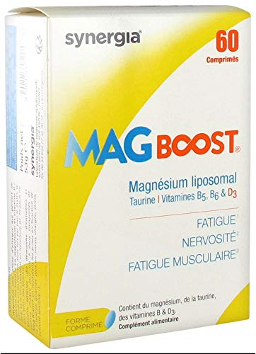 Mag Boost comprimidos - Magnesio liposomal natural, taurina y vitaminas del grupo B - Made in France