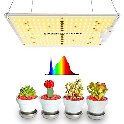 Spider Farmer LED Grow Lampe SF1000D LED Pflanzenlampe Vollspektrum Grow Light mit Samsung LEDs Pflanzenlicht Wachstumslampe für Zimmerpflanzen Gemüse und Blumen Wachsen Zelt