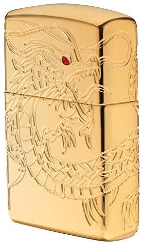Encendedor Zippo 16400, color cromado, cromado, Armor High polish Gold Plate with Epoxy Inlay (Dragon Multi Cut ), 6.0  x  4.0  x  2.0 cm