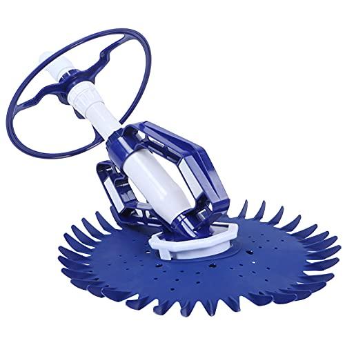 Fdit Automatischer Saugseitiger Poolreiniger Staubsauger-Poolreiniger Sweep Crawler Sweeper Poolreinigungsgeräte für die Reinigung von Außenpools