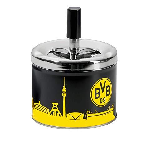 Borussia Dortmund BVB-Aschenbecher mit Deckel, 10cm