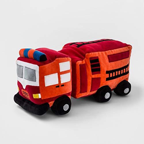 Fire Truck Throw Pillow Red