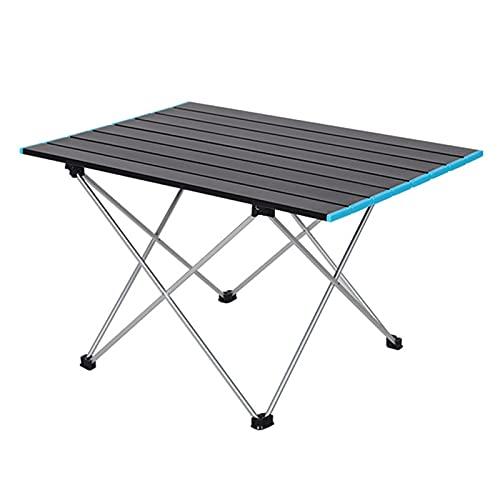 WYYUE 56.5 * 41 * 40cm Mesas de Camping con Bolsa de Almacenamiento - Aluminio Mesa de Playa Folding Camping Table