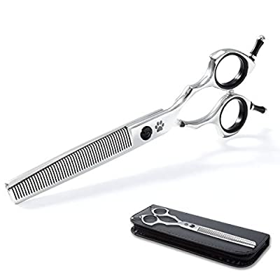 """Premium Dog Thinning Shears for Grooming,50 Teeth Sharp Pet Scissors Dog Hair Clippers,Professional Dog Grooming Shears for Dog Hair Remover, Durable Cat Grooming Scissors Tool,7"""" Blender by Snagle Direct"""
