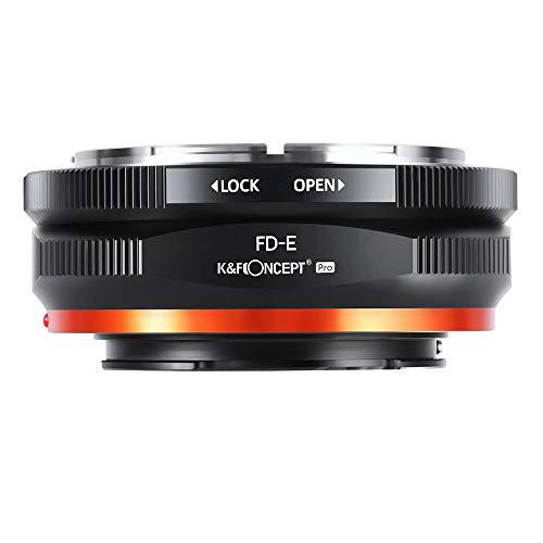 K&F Concept 【2020進化版】 マウントアダプター Canon FDレンズ-SONY NEX Eカメラ装着 PRO Ⅱ 艶消し仕上げ 反射防止 無限遠実現 M13105 メーカー直営店