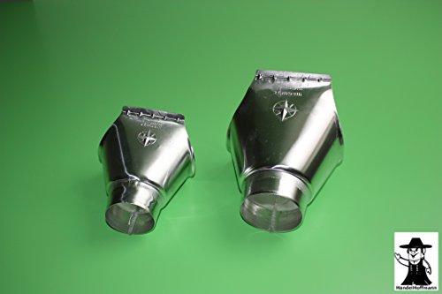 Rinneneinhangstutzen für Dachrinne Titanzink in 3 Größen (groß-6 TLG auf 100mm)