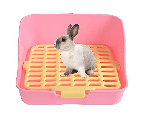 Pet Rabbit Toilet Litter Tray,t,Saim Plastic Rectangle Mesh Design Pet...