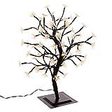 Nipach GmbH 64 LED Baum mit Blüten Blütenbaum Lichterbaum warm weiß 45 cm hoch Trafo IP44 Timer Weihnachtsbeleuchtung Weihnachtsdeko Lichterdeko