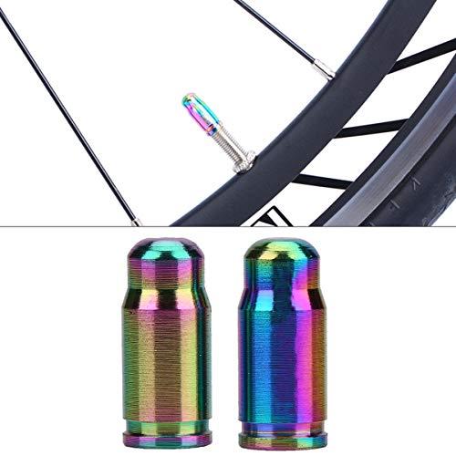 SOONHUA Fahrrad-Reifenventil-Mundventil-Rad-Staubschutz mit TC4-Titanlegierung, Mountainbike-Ventilkappe für Innenschlauch, Gasdüse, 1 Box mit 2 Sets