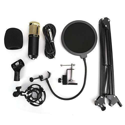 EXID Soporte de brazo de tijera de suspensión de micrófono de grabación ajustable para transmisión en vivo ABS