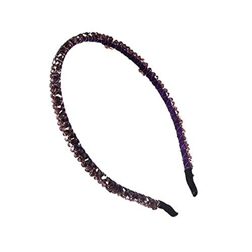 Femmes Mariage Nuptiale Perle Cristal Hairband Princesse Bandeau Chapeaux Violet
