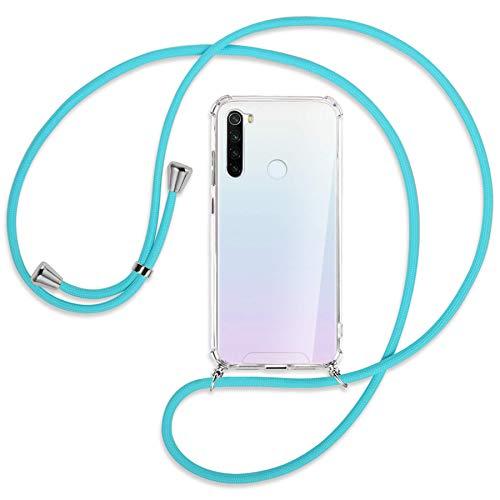 mtb more energy® Collar Smartphone para Xiaomi Redmi Note 8T (6.3'') - Turquesa - Funda Protectora ponible - Carcasa Anti Shock con Cuerda