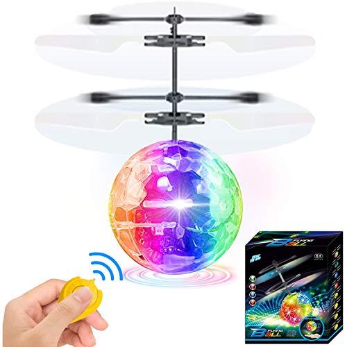 AMENON Kinder Flying Ball, RC Fliegende Spielzeug Infrarot Induktion Drohne Handsteuerhubschrauber mit leuchtenden LED-Leuchten Disco USB Wiederaufladbare Spaß Neuheit Spielzeug für Jungen Mädchen