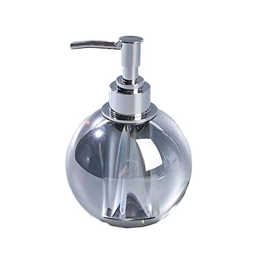 YINGZI Recargable Dispensador de jabón de Cristal Botella de Prensa con Bomba de Acero Inoxidable Dispensador de loción a Mano para baño y Cocina Dispensador de Baño (Color : Beige)