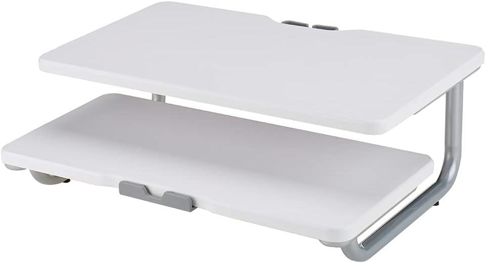 JJWC Elegant 2 Bargain sale Tiers Computer Monitor Stand Riser f Desk Metal Organizer