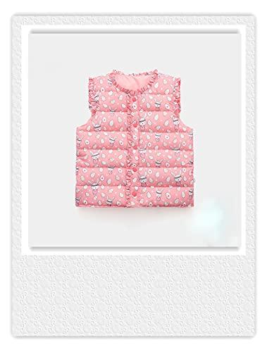 Chaleco para niñas para otoño e invierno ropa coreana bebé niños ligero Down algodón estilo occidental chaleco bebé, 2-3T, rosso, 2-3 Años