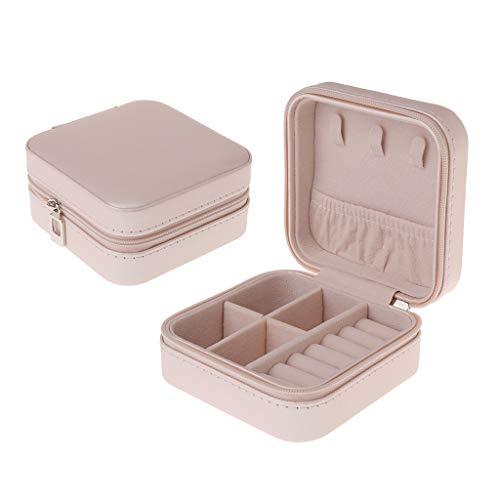 Hergon Mini Reise Schmuckkästchen, Schmuckaufbewahrungsbox, Kleine Reise Schmuckkästchen Klein Schmuckbox für Ringe Ohrringe Lippenstift Uhren (O#)