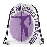 Jhonangel Us Pole Dance FederationUs Pole Dance Federation Zaino con Coulisse Sport Yoga Sacco Borse a Tracolla per Viaggi escursionistici all'aperto