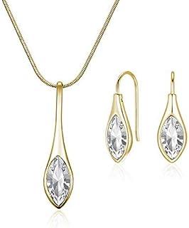 MESTIGE Women Gold Amelie Set with Swarovski Crystals, Glass - MSSE3237