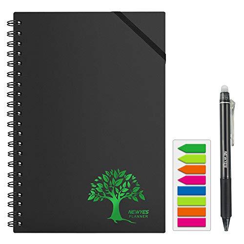 NEWYES organizador personal inteligente, con almacenamiento en la nube para trabajadores de oficina   estudiantes   profesores [lápiz borrable y pestañas de colores incluidos]