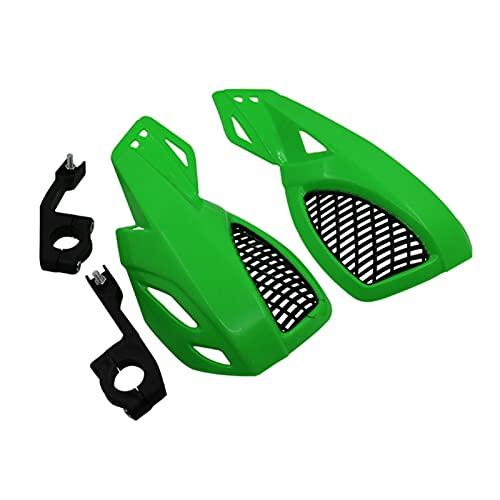 Protector de Guardia de Mano de la Mano de la Motocicleta para HON-DA 125 CRF2CRF 250 450R x XT 225 250R XR250 400 600 para Ya-ma-ha yz YZF 250 Protectores de Manos Moto (Color : Verde)