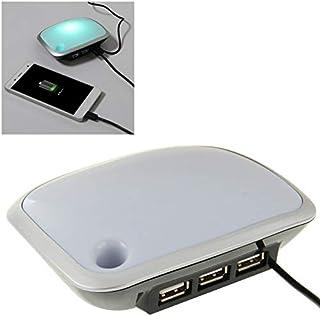 QFH 3 موزع USB مع إضاءة ليد، طول الكابل: 1 متر محور USB