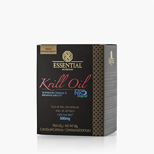 Óleo de Krill - 60 Cápsulas 500 mg - Essential Nutrition, Essential Nutrition