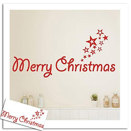 North King Autocollant Mural, Noël, Chambre Restaurant canapé Fond Mur Peinture décorative décoration Murale Verre Coller PVC removabl Sticker Mural E