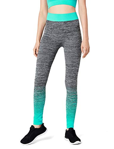 FM London Crop Top and Leggings Conjunto Ropa Deportiva, Turquesa (Turquoise), única (Talla del Fabricante: 8-14) para Mujer