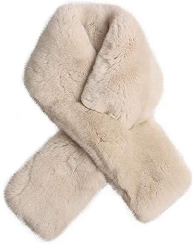 ZSW Bufanda de Terciopelo Invierno para Mujer Cálido Grueso Babero de Felpa de Doble Cara Bufanda Simple de Alto Nivel Bufanda Envolvente Peluda (Color: Beige Tamaño: 82x11.5cm)-Los 82x11,5cm_Beige
