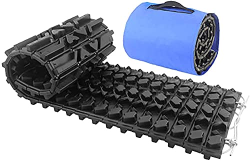 AEGIS light Tire Escaper Traction Mats,Recovery Boards Traction Tracks Mat, Emergency Lightweight Portable Vehicle Recovery Treads for Car, Truck, RV, ATV Roadside Assistance and Off-Road,BlackM
