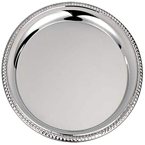 silberkanne Platzteller Tablett Kordelrand 31 cm Silber Plated versilbert in Premium Verarbeitung