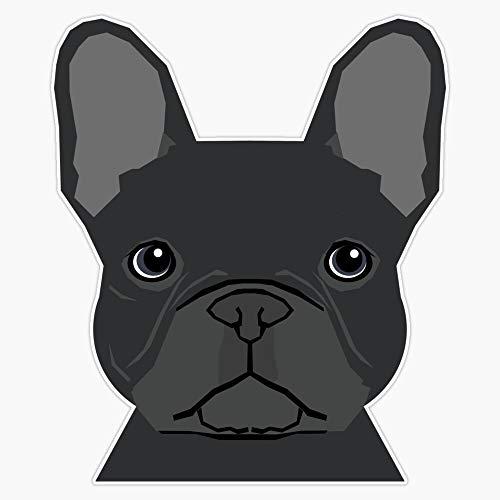French Bulldog Black Coat Peeking Cute Frenchie Pure Breed Dog Lover Gifts Sticker Vinyl Waterproof Sticker Decal Car Laptop Wall Window Bumper Sticker 5'